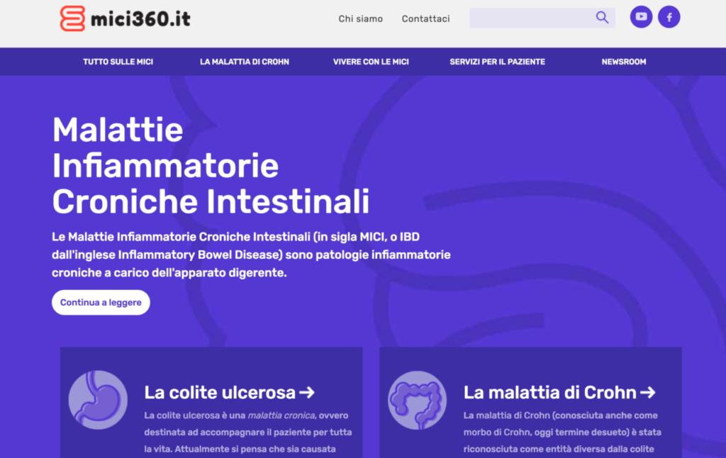 Online il sito per le malattie infiammatorie croniche intestinali